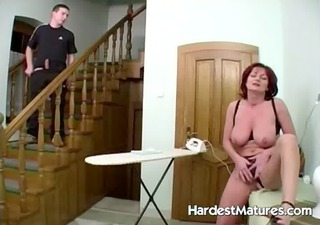 lovely redhead housewife gets soaked cum-hole