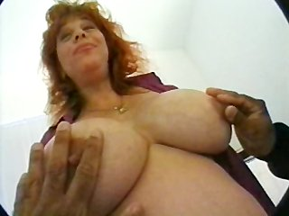 pregnant mom with giant boobs in threesome