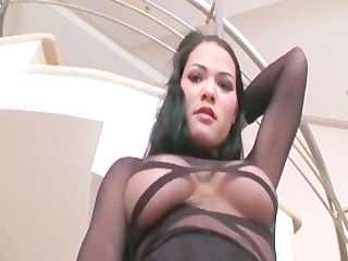 hot milf izabel fucking in stockings and sexy