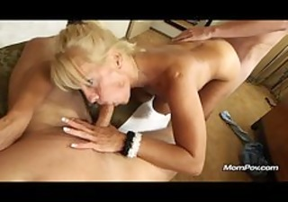breasty mature gets facial and creampie