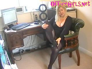 big beautiful woman secretary slut in black