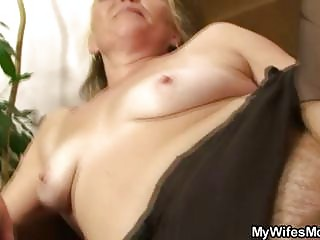 concupiscent granny opens unshaved pussy for hot