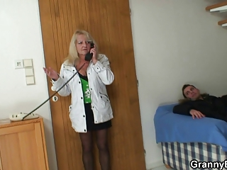 wicked granny in stockings rides dick