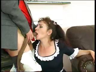 plump mature maid lillian puts her hose on morris