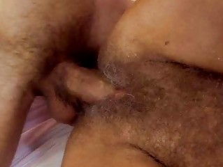 lusty granny acquires her curly twat screwed hard