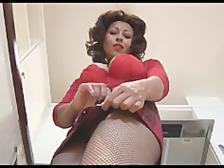 large tits mature in mini skirt and crotchless