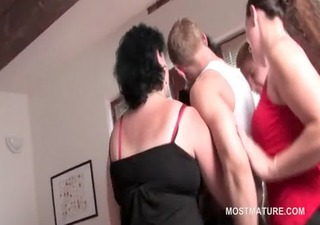 mature fuckfest hoes suck cock and take up with