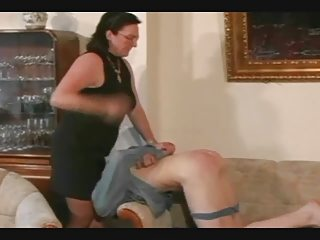 granny belts and spanks the guy pt5