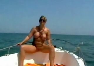 undressed stepmom at the boat