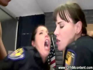 two mmf cops in uniform receive anally rammed
