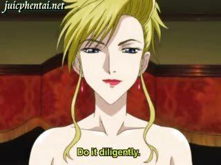 blonde anime milf cumming wet