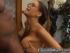 sexy mother i in glasses deepthroating black part0
