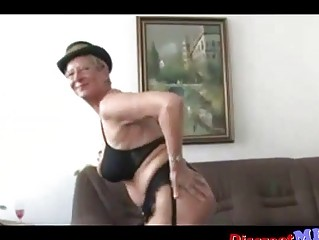 indecent euro granny with glasses gets drilled