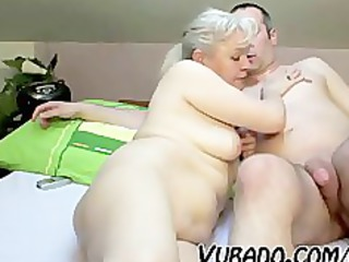 older pair fuck hard on bed