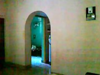 hidden cam of my mom walking after washroom from