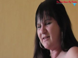 dirty british wife strapon and cum overspread