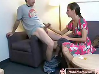 son blackmails mommy into creampie