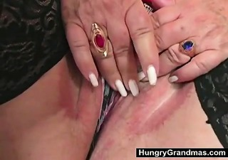 large granny hungry