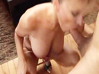 milf swallows the last drop