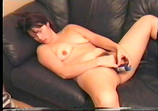 amateur drunk wife bonks herself with a hairspry