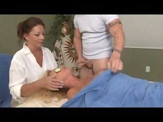 peculiar massage for blond aged