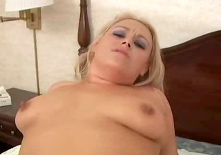 a chubby hottie acquires fucked and swallows
