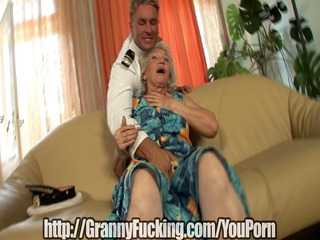 old grandma gets drilled for her birthday