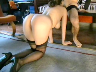 pervy wife playing submissive part