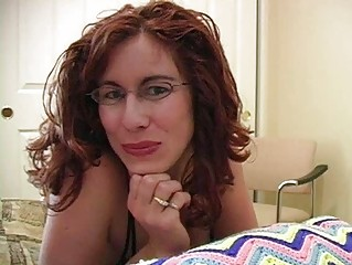 cock loving redhead d like to fuck with glasses