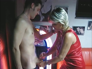 mature makes handjob and oral-stimulation at the
