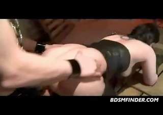 femsub spanked and fucked in the booty in dark