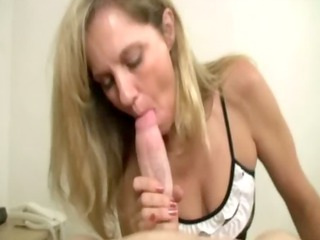 tugging older cfnm milf amateur can not keep cock
