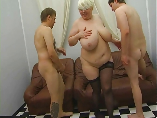 russian older mother seducing younger in silk