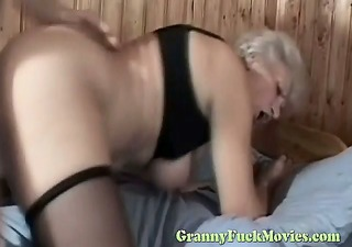 blond granny rough nailed