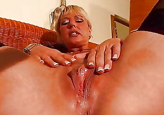 mature blonde enjoys her own body dbm movie scene