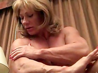 mature muscle showoff