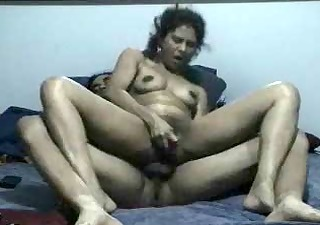 wife practicing anal for double penetration