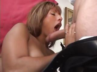 hot lalin girl milf licks a lollipop cock and