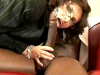 sizzling interracial older office fucking