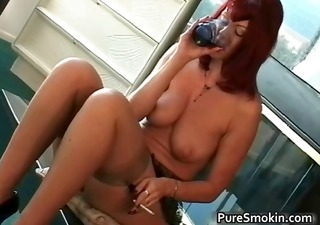 big boobs red head cunt smoking slavery part4