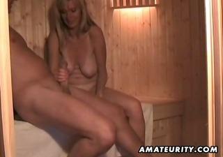dilettante wife masturbates sucks and fucks with