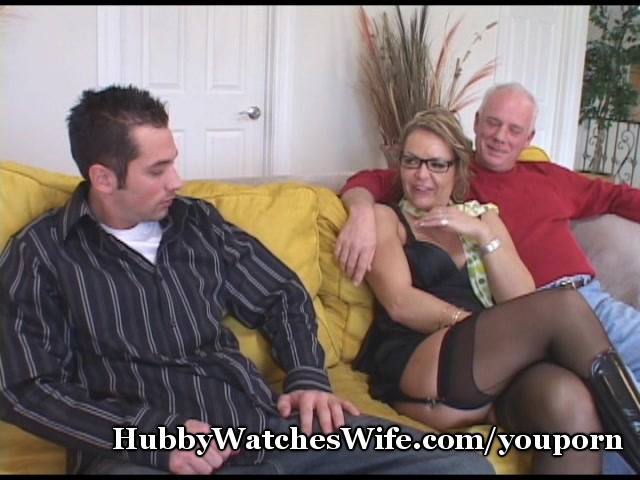 mature sweetheart watched by hubby