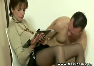 mrs sonia barely acknowledges her male subjects