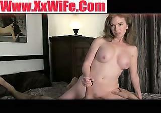 beautiful naked wife gives astounding handjob