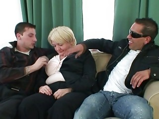 chaps bang absolutely drunk granny