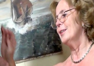 pierced german granny getting drilled hard by a
