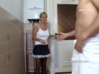 beautiful and hot mom screwed by her son in the