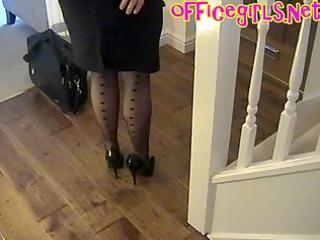 big tits aged secretary in nylons
