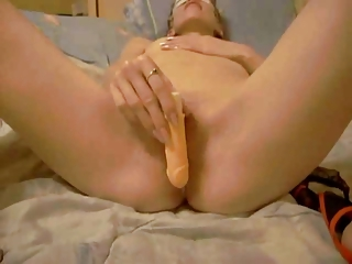 masked cheating wife playing with her wet crack