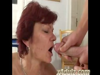 slender old redhead granny fuck young chap in the